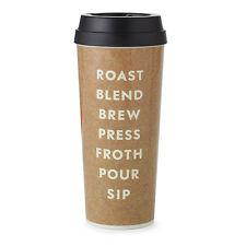 KATE SPADE - Thermal Mug - 16 oz. - Roasted Coffee