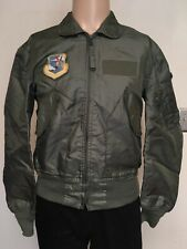 VTG 1986 ALPHA INDUSTRIES US AIR FORCE FLYER JACKET Sage Green CWU 36P PATCHES M