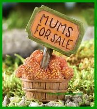 Miniature Dollhouse Fairy Garden Mums For Sale Sign Thanksgiving Halloween 203