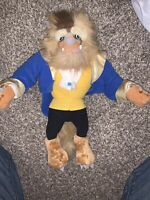 """Rare Disney Store Collection Beauty and the Beast Plush Doll Medium 15"""" 2016"""