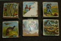 Vintage Wooden Alphabet Picture Blocks RARE, Toys, ANTIQUE