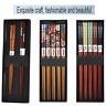 2/5 Pairs Reusable Chopsticks Classic Japanese Natural Bamboo Wood Wedding Gift