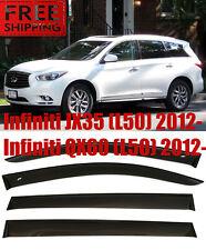 For Infiniti JX35/QX60 2012- Window Smoke Visor Rain Sun Guard Deflectors