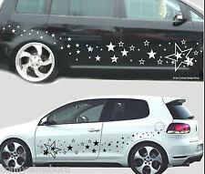 120 Sterne Cartattoo Autoaufkleber Stern Set, Seitenaufkleber C2+ einfarbig
