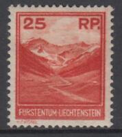 LIECHTENSTEIN - 1933 25r.  Yv 111 cv 840$  MH*  SIGNED (GEPRÜFT) MARXER