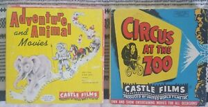 2 Vintage 8mm Castle Films: Africa Untamed Adventure & Animal, Circus at the Zoo