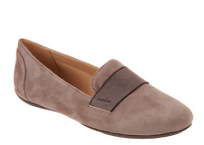 GEOX Suede Slip-On Shoes - Charlene Dove Gray Women's Size 6 New
