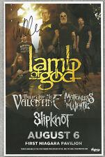 Lamb Of God autographed gig poster Chris Adler, Willie Adler, John Campbell