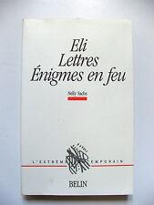 NELLY SACHS : ELI, LETTRES, ÉNIGMES EN FEU / BILINGUE / BELIN / 1989 / EO N°