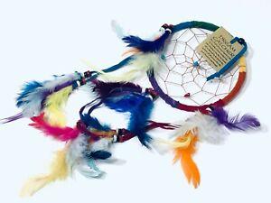 Dream catcher handmade rainbow colour 30 cm long x 12 cm wide