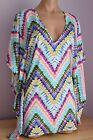 NWT Bar III Swimsuit Bikini Dana Dye Cover up Dress Tunic Sz M Multi