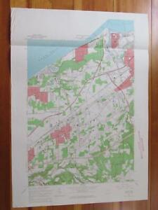 Mentor Ohio 1964 Original Vintage USGS Topo Map