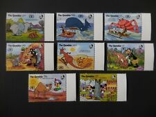 Gambia 1991 Disney Stamps Completed Set MNH
