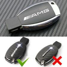2ps AMG Alloy Silver Chrome Key Fob Badge Emblems Decal Adhesive Sticker For All