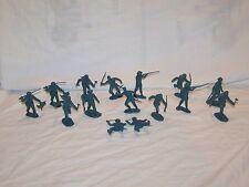 Vintage Marx Toy Alamo Playset Parts Figures Lot Soldiers Blue