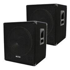 "Evolution Audio EL-Sub 15A Active Powered 15"" Subwoofers Sub Bass Bin 1200W PAIR"