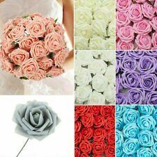 50/100X Large 7Cm Artificial Flowers Foam Rose Heads Wedding Party Decor Bouque