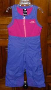 THE NORTH FACE HYVENT Pink Purple INSULATED Toddler Girls Bib Snow Ski Pants 2T
