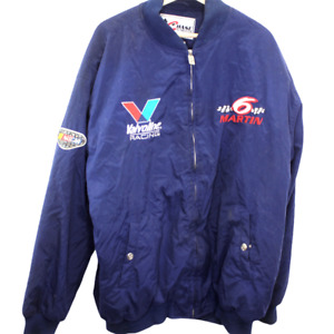N154 Vintage Chase Authentics Valvoline Racing 6 Martin Racing Jacket Men's 2XL