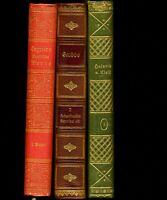 3 charmante Bände★GRABBES Werke (Leder)★TEGNÉRS Werke★V. KLEIST Werke★1885–1928★