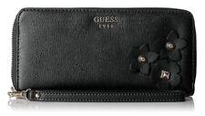 GUESS Women's Liya SLG Large Zip Around Black Handbag NWT MSRP $120