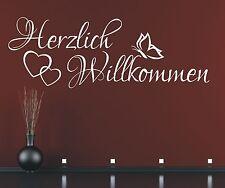 X417 Wandtattoo Spruch - Herzlich Willkommen Welcome Flur Sticker Wandaufkleber