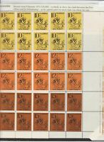 NETHERLANDS LOCAL POST, LEEUWARDEN  1970 LARGE SHEET OF 48 STAMPS UNMOUNTED MINT