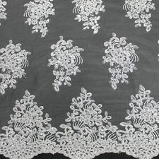 Adrianna Embroidered Flower with Sequins Lace Fabric by the Yard - Style 5003