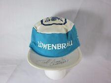 Vintage LOWENBRAU Beer Blue White Strap Back Painter Hat Todd Gogulski Autograph