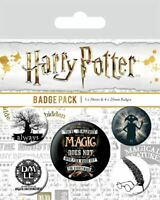HARRY POTTER (Symbols) Pack of 5 x Safety Pin Backed Official Badges