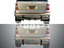 BGT 1998-2005 BENZ ML-CLASS W163 REAR DOUBLE TUBE UNDER DESIGN BUMPER GUARD S/S