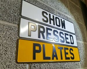 2 x 3D Pressed Metal SHOW / NOVELTY Number Plates -NOT ROAD LEGAL