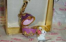 New Juicy Couture Easter Bunny And Egg Charm use on Bracelet Necklace or Bag