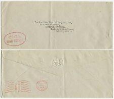 GB Ufficiale WAR Office METRO affrancatura 1955 in rilievo BUSTA CIGS handstamp