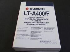 2006 Suzuki LTA400 LT-A400 LTA 400 LT-A400/F Quad Owners Manual Handbook