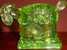 Green Vaseline Spark Plug Barney Googles glass paperweight uranium horse Donkey