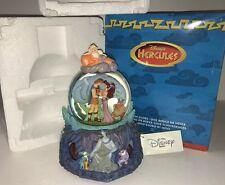 Disney RARE Hercules Hades Zeus Meg Snowglobe w/ Rotating Base Music I Won't Say
