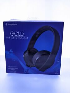 Sony PlayStation 4 Gold Wireless Stereo Headset, Black