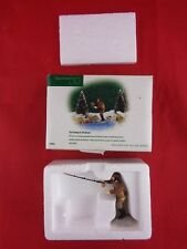 Nib Dept 56 56633 New England Village Fly Casting in the Brook retired 2002