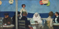 Edward Hopper Soir Bleu Giclee Canvas Print Paintings Poster Reproduction Copy