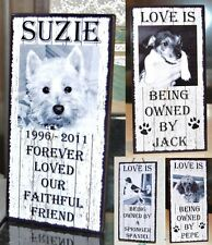 SHABBY CHIC PERSONALISED PHOTO PET WOODEN PLAQUE HOUSE DOG CAT NAME GIFT SIGN