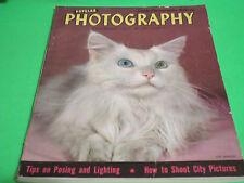 NOVEMBER 1947 Popular Photography Magazine KITTY COVER JOE LINHOFF