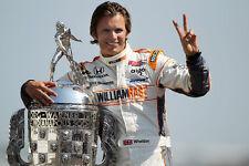 Dan Wheldon 2011 Indianapolis 500 Champion Trophy 8x10 Photo Indy Racing