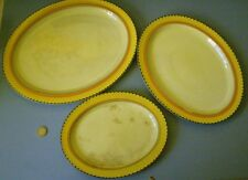 VERY RARE A249 PATTERN 1930's GRAYS POTTERY 3 x ART DECO hand painted PLATTERS