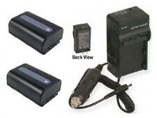 2 Batteries + Charger Sony HDR-PJ10 HDR-CX130 HDR-CX130B HDR-PJ10E HDRPJ10E