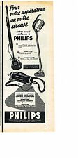 PUBLICITE ADVERTISING  1952   PHILIPS   aspirateur cireuse