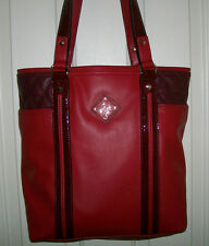 Women Simply Vera by Vera Wang Red Faux Leather Purse Shoulderbag Bag Tote NWT