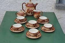 6 Personen Kaffeeservice Bunzlau  Spritzdekor