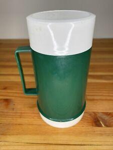 Thermos Food Jar VINTAGE 16oz Green Plastic 3 pc. Set Made In Canada 72F 70F 24F