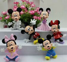 Mickey & Minnie Mouse Action Figure Kid Display Figurines Cake Topper Decor Toy